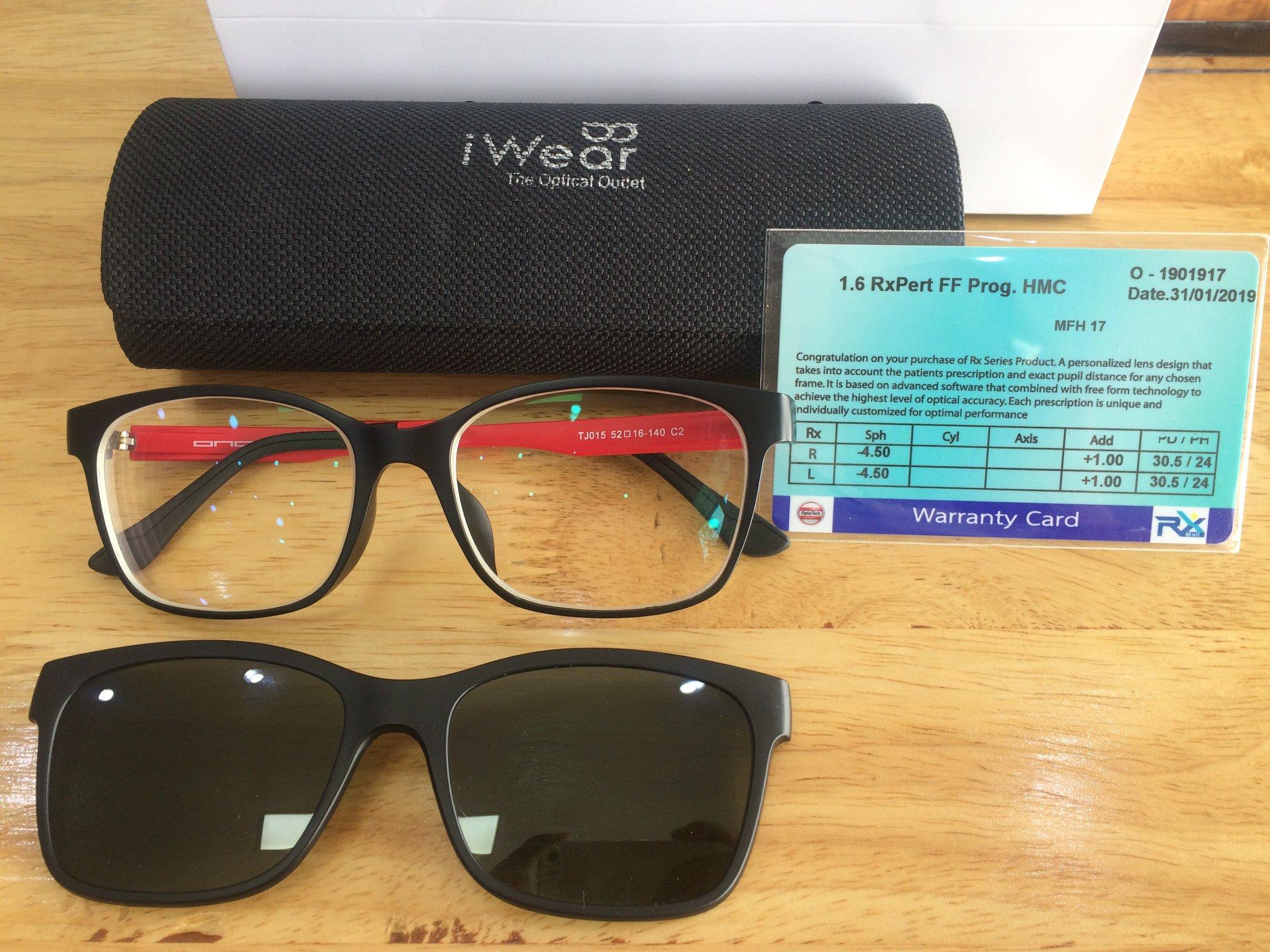 เลนส์โปรเกรสซีฟกับแว่นตาแบบมีคลิปออน