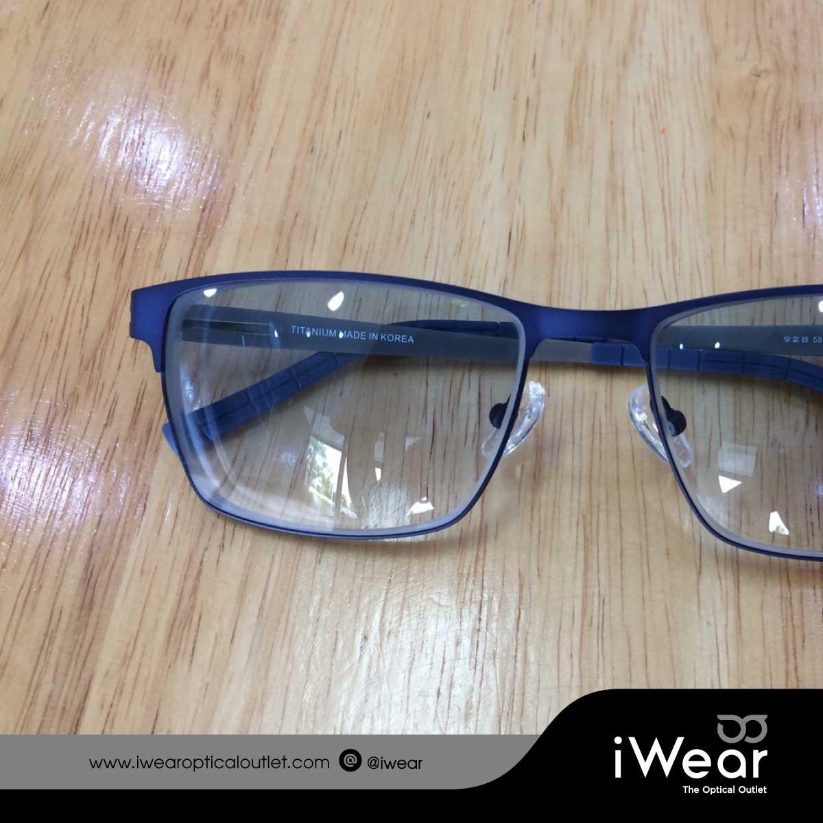 แว่นสายตา  iWear Titanium IP เลนส์สายตาสั้น ทำสีฟ้าแบบไล่สี