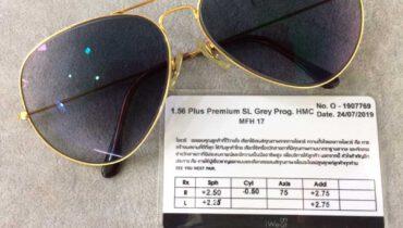 กรอบแว่นตา Rayban  เลนส์โปรเกรสซีฟ รุ่น Pro 1.56 Plus Premium