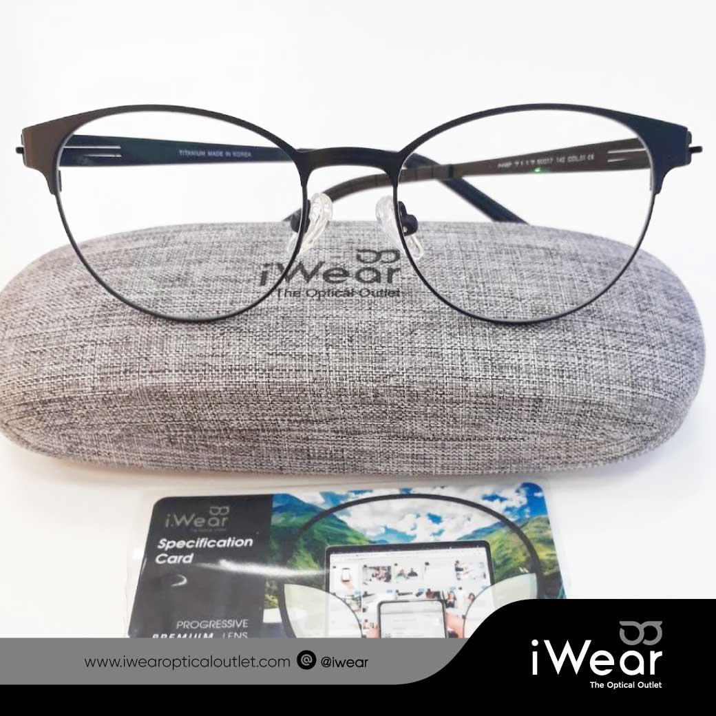 แว่นสายตา เลนส์โปรเกรสซีฟ  PIus premium กรอบ TITANIUM lP