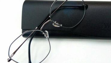 ผลงานประกอบแว่น กรอบ B-Titanium IP รุ่น 8272 c4 เลนส์ Blue cut Steel UV420 1.56