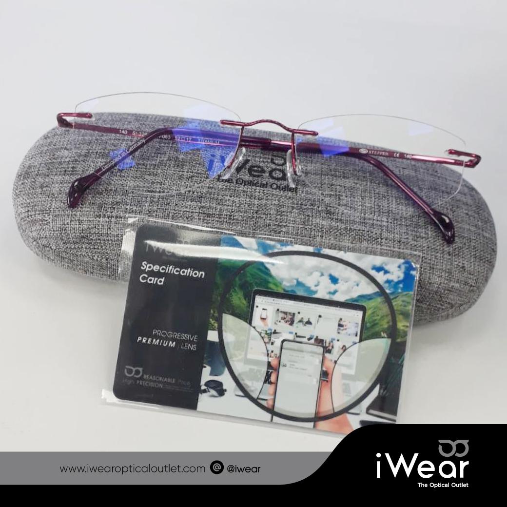 แว่นสายตา เลนส์โปรเกรสซีฟ 1.6 รุ่น Pro Platinum premium Photo Blue Cut