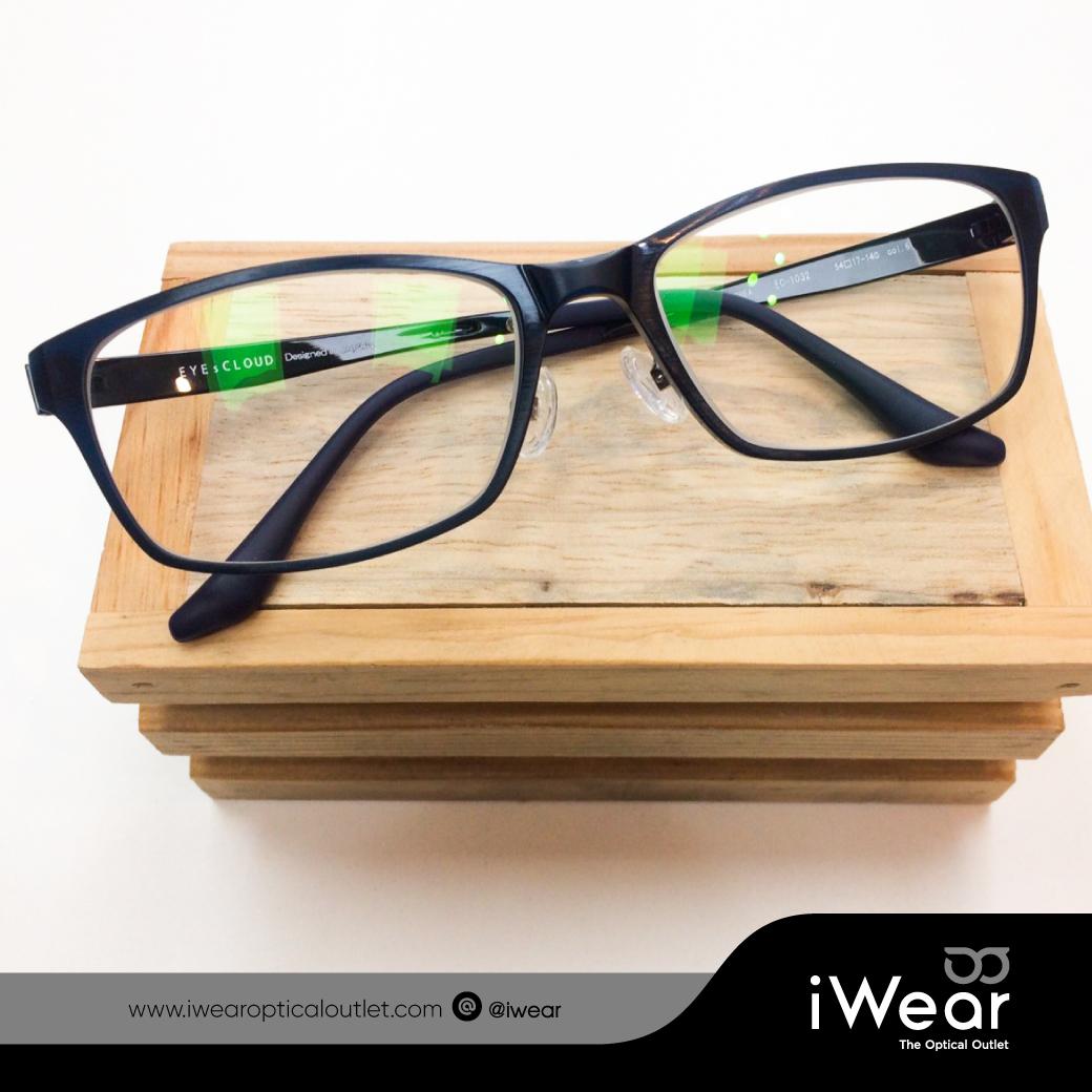 ผลงานประกอบแว่นสายตา กรอบแว่นตา Eye s Cloud รุ่น EC-1032