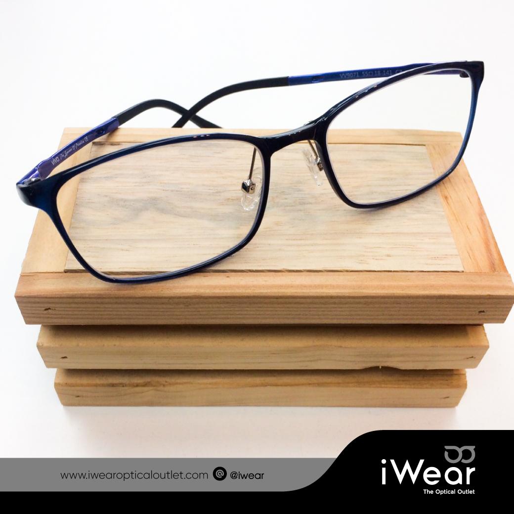 ผลงานประกอบแว่นสายตา กรอบแว่นตา VIVO รุ่น VV9071 C.3