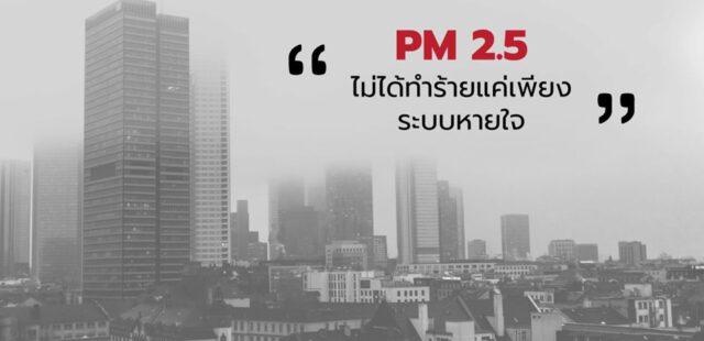PM 2.5 ไม่ได้ทำร้ายแค่เพียงระบบหายใจ