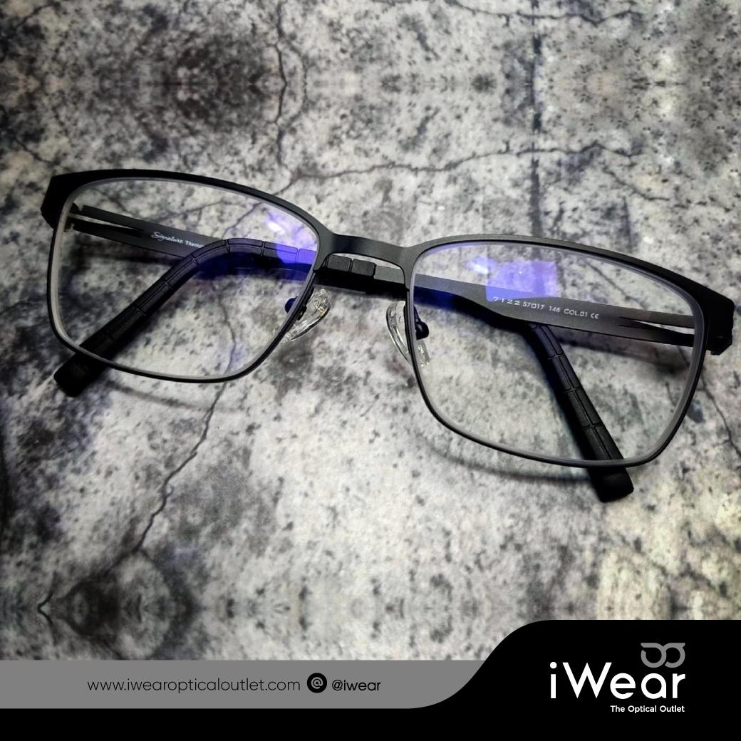 ผลงานประกอบแว่นสายตา กรอบแว่นตา Titanium IP