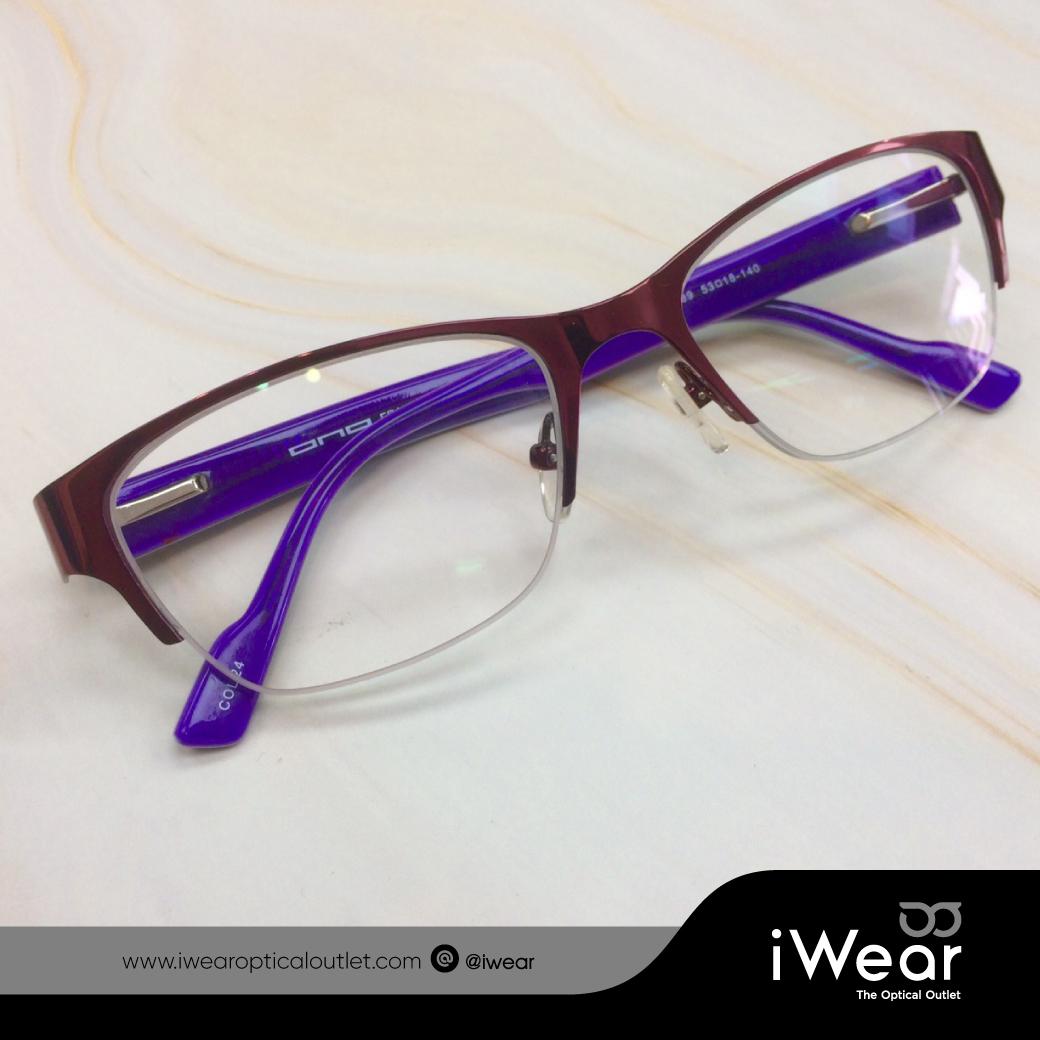ผลงานการประกอบแว่นสายตา กรอบแว่นตา ONO รุ่น 6289